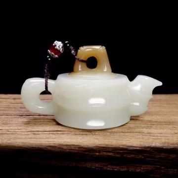 【玉壶】和田玉糖白玉